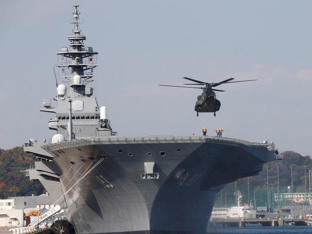 ژاپن بزرگترین کشتی نظامی خود را به دریای چین جنوبی می فرستد