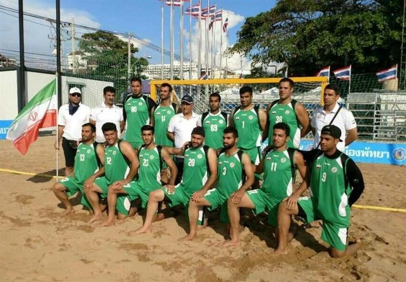 پیروزی تیم ملی هندبال ساحلی ایران مقابل تایلند و صعود به نیمه نهایی