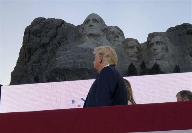دستگیری معترضان آمریکایی قبل از سخنرانی ترامپ