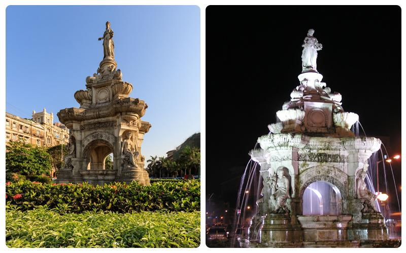 آبنمای فلورا؛از آبنماهای نمادین شهر بمبئی، عکس