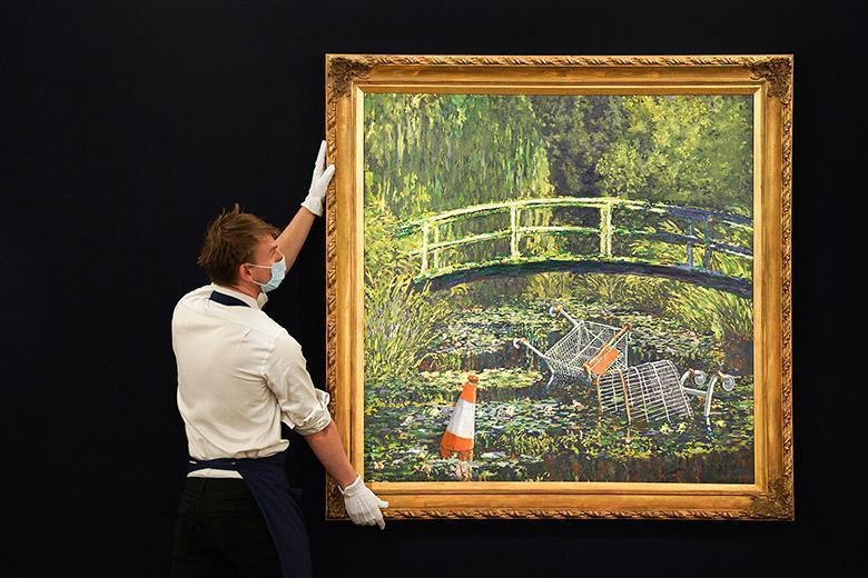تابلوی نقاشی مونه را به من نشان بده بنکسی، با قیمت 7.6 میلیون پوند فروش رفت