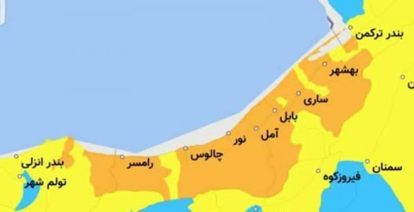 خبرنگاران شرایط کرونایی هفت شهرستان مازندران زرد شد