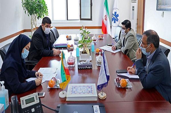 دیدار نمایندگان سازمان غذا و دارو و هیات امنای ارزی با رئیس سازمان اورژانس کشور